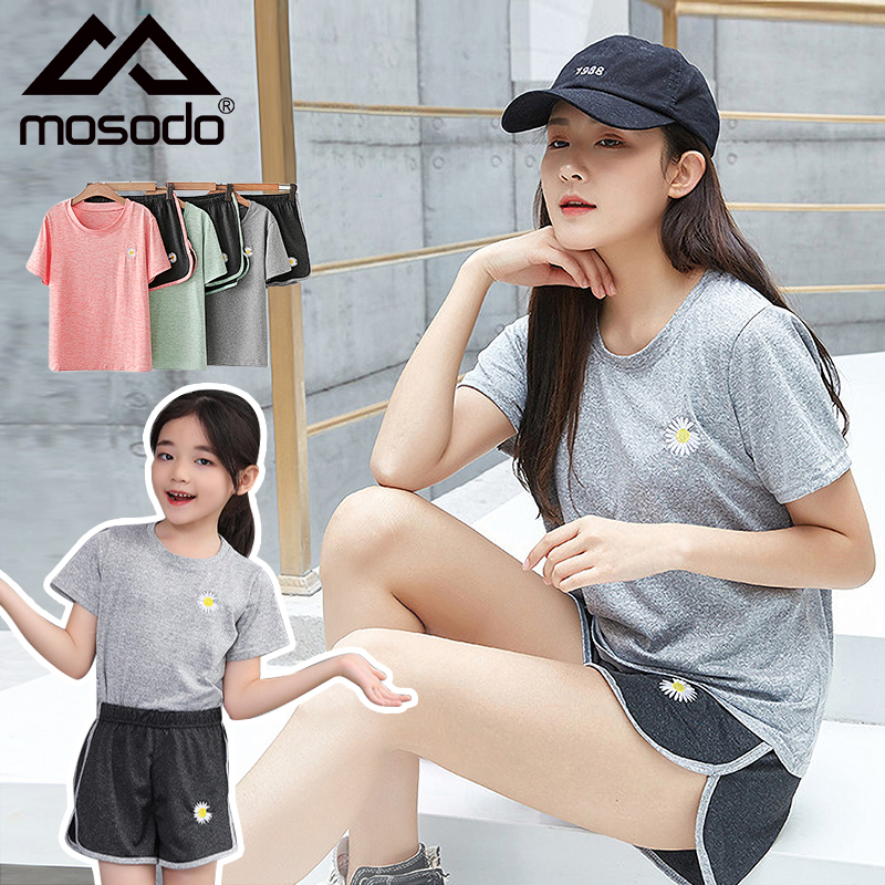 Sportswear Quick Drying Suit Family Matching Mother and Children Family Look Woman Daughter Girl Yoga Costume Sweatsuit