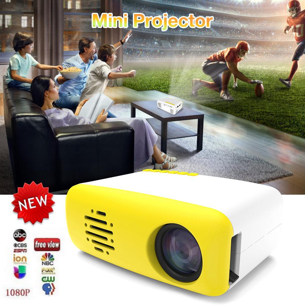 LED Projector 400 Lumen HD Mini Projector 320x240 Pixels Portable Full Color HDMI USB Mini Projector Home Media Player