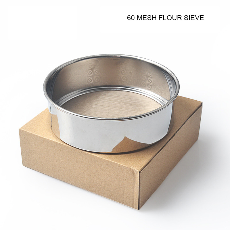Flour Sifter 60mesh Diameter 15cm Stainless Steel Hand-Held Sieve Flour Mesh Sugar Powder Sifters Strainer Kitchen Baking Tool