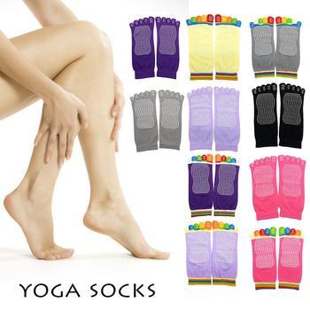 Skarpetki do jogi antypoślizgowe silikonowe skarpetki do jogi bawełniane odnosi się do kobiet skarpetki do tańca sportu kryty akcesoria sportowe antypoślizgowe sportowe tanie i dobre opinie Skarpety pantofle WOMEN Joga combed cotton black gray blue antiskid socks Support yoga socks