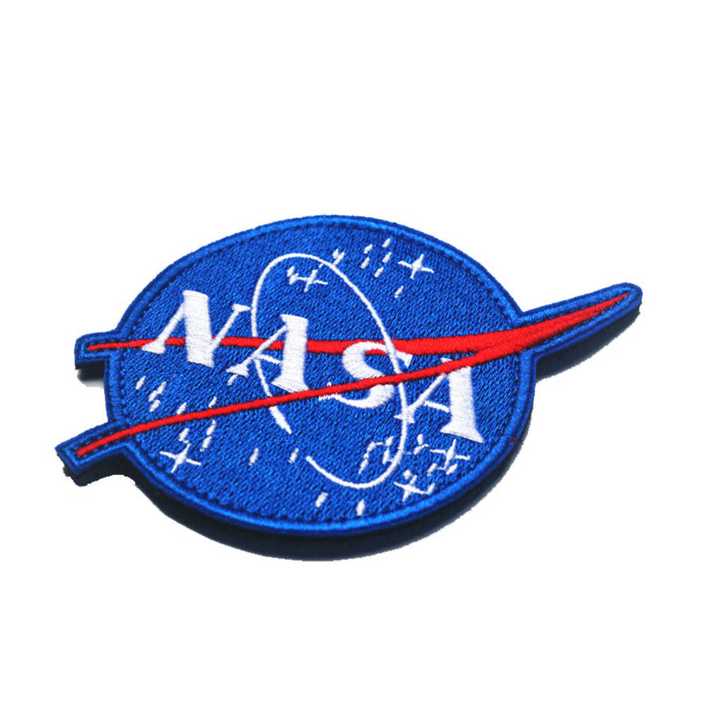 미국 우주 기관 nasa 어깨 엠블럼 수 놓은 벨크로 전술 사기 패치 배지 현재