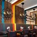 Luces colgantes de hierro de arte Retro nórdico iluminación LED lámpara colgante sala de estar restaurante dormitorio Café Bar decoración Droplight luminaria