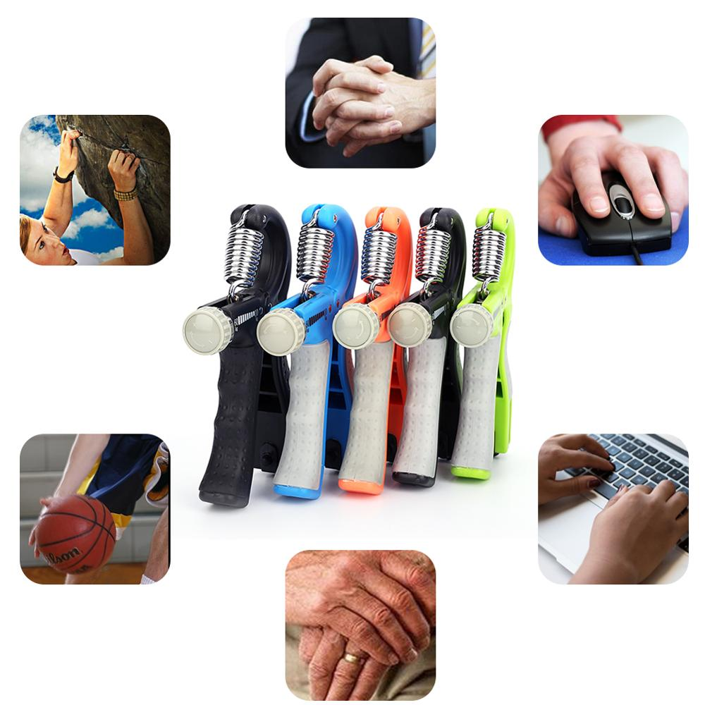 Купить с кэшбэком New R-Shape Adjustable Countable Hand Grip Strength Exercise Gripper with Counter Durable Hand Strength Exercise Fitness Tool