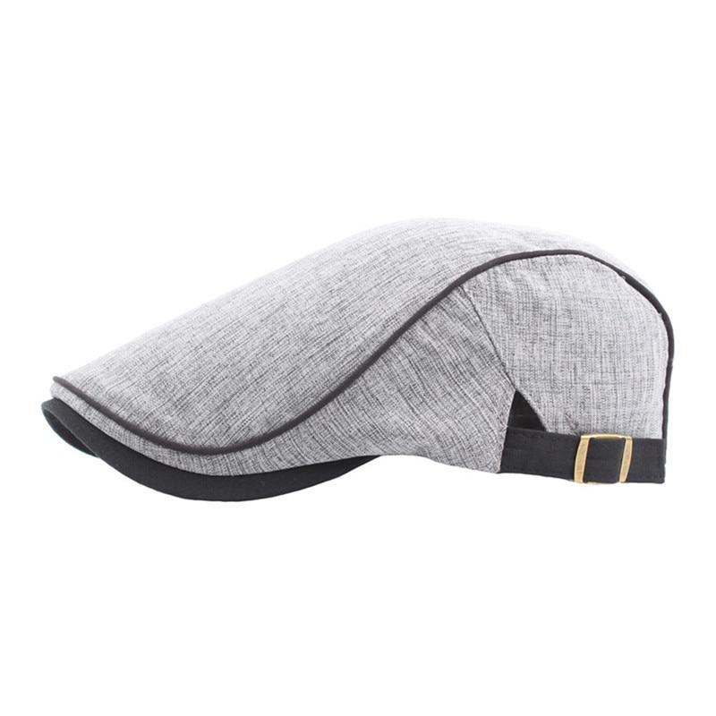 British Style Beret Hats Men Women Spring Summer Cap Casual Duckbill Hat High Quality Cotton Linen Outdoor Painter Beret Cap