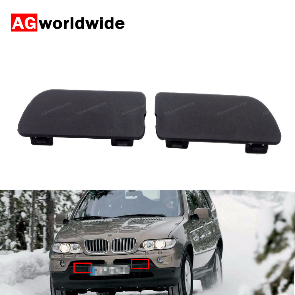 1 piece Front Bumper Right SideTow Hook Cover Cap for BMW X5 E53 51118250414