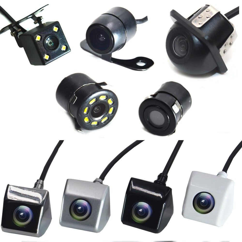 Auto Videocamera vista posteriore 4 LED Night Vision Telecamera di Retromarcia Parcheggio per Automobili Monitor CCD Impermeabile 170 Gradi HD Video