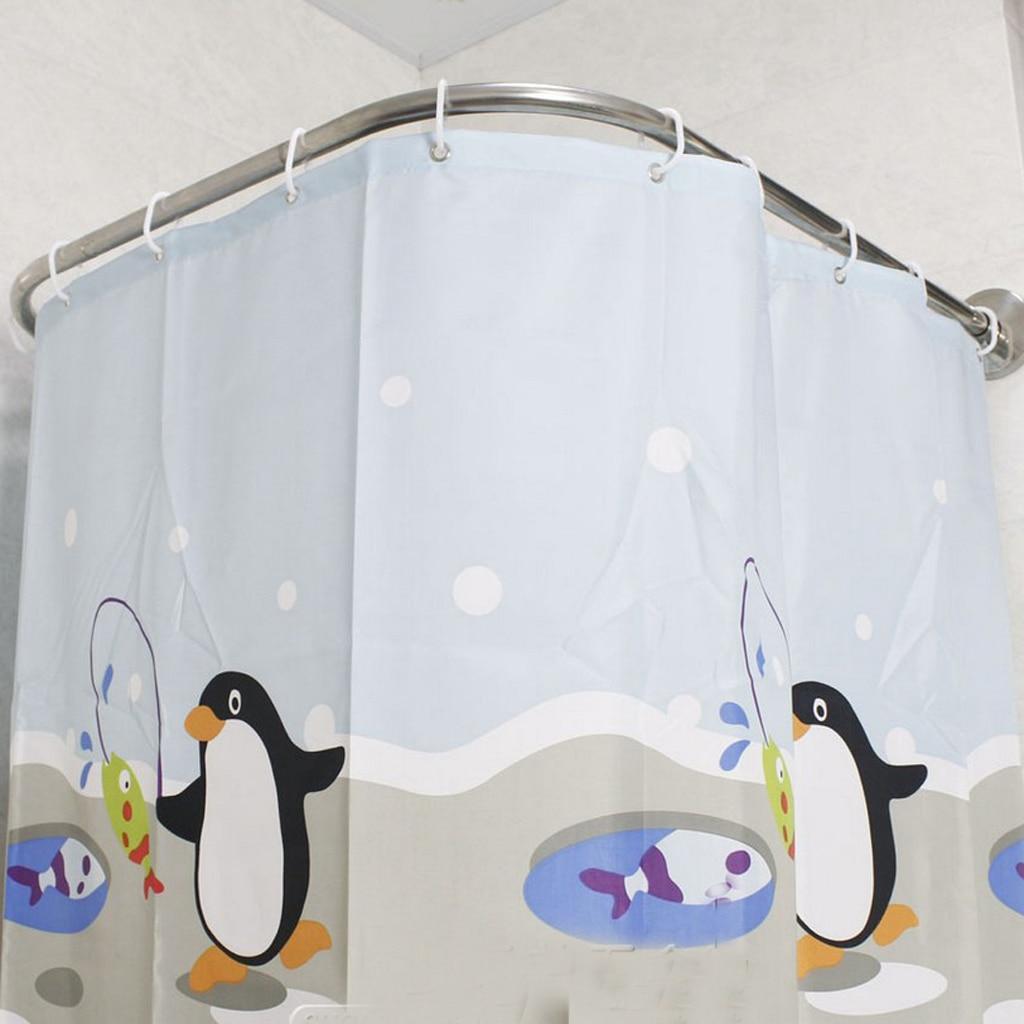 Us 30 27 38 Off 1 Set Extendable Corner Shower Curtain Rod Pole 31 47inch Rail Rod Bar Bath Door Hardware Heavy Loaded Stainless Steel In Shower