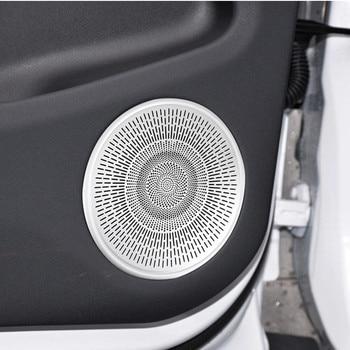 Car Styling Door Audio Speaker Net A-Pillar Horn Cover Trim For Land Rover Range Rover Evoque 2020 Aluminum Alloy 1