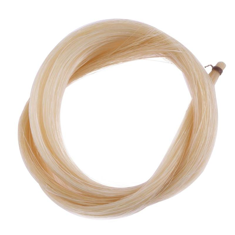1 Hank Universal Yellow White Stallion Horse Hair For Violin Bow Stringed Musical Instruments Violin Parts Accessories
