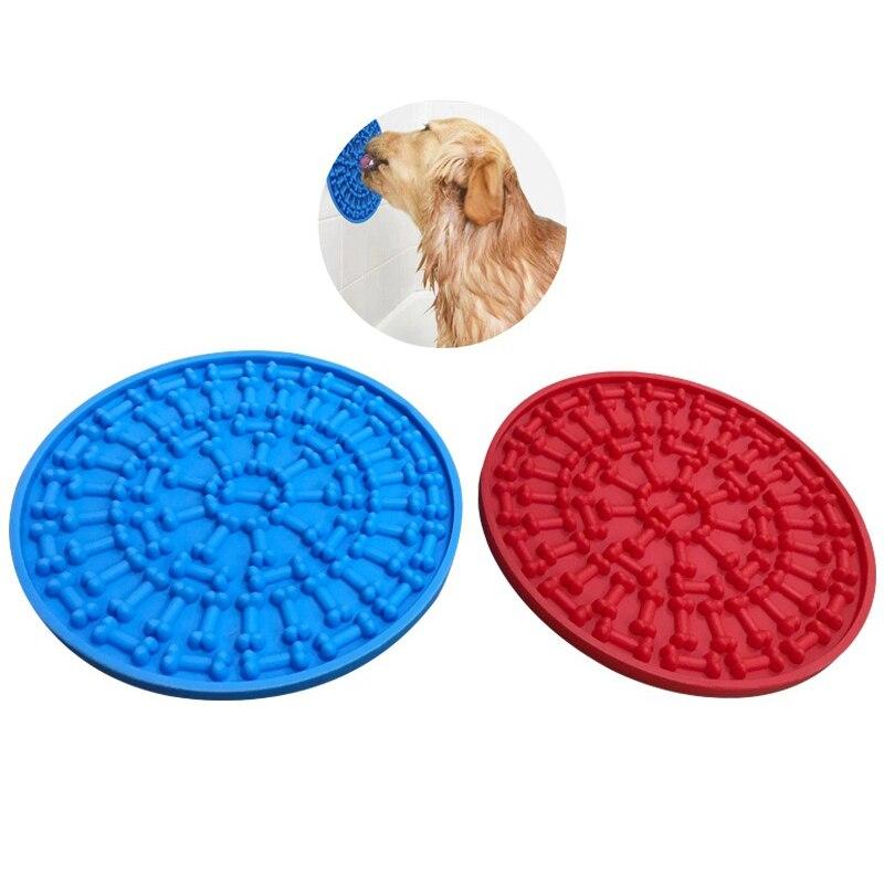 Plaque de transfert de chien de copain de coussin de lécher de bain de chien pour le bain avec la ventouse
