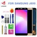 Brilho ajustável lcd para samsung galaxy j6 2018 j600 j600f j600y display lcd tela de toque digitador assembléia painel peças