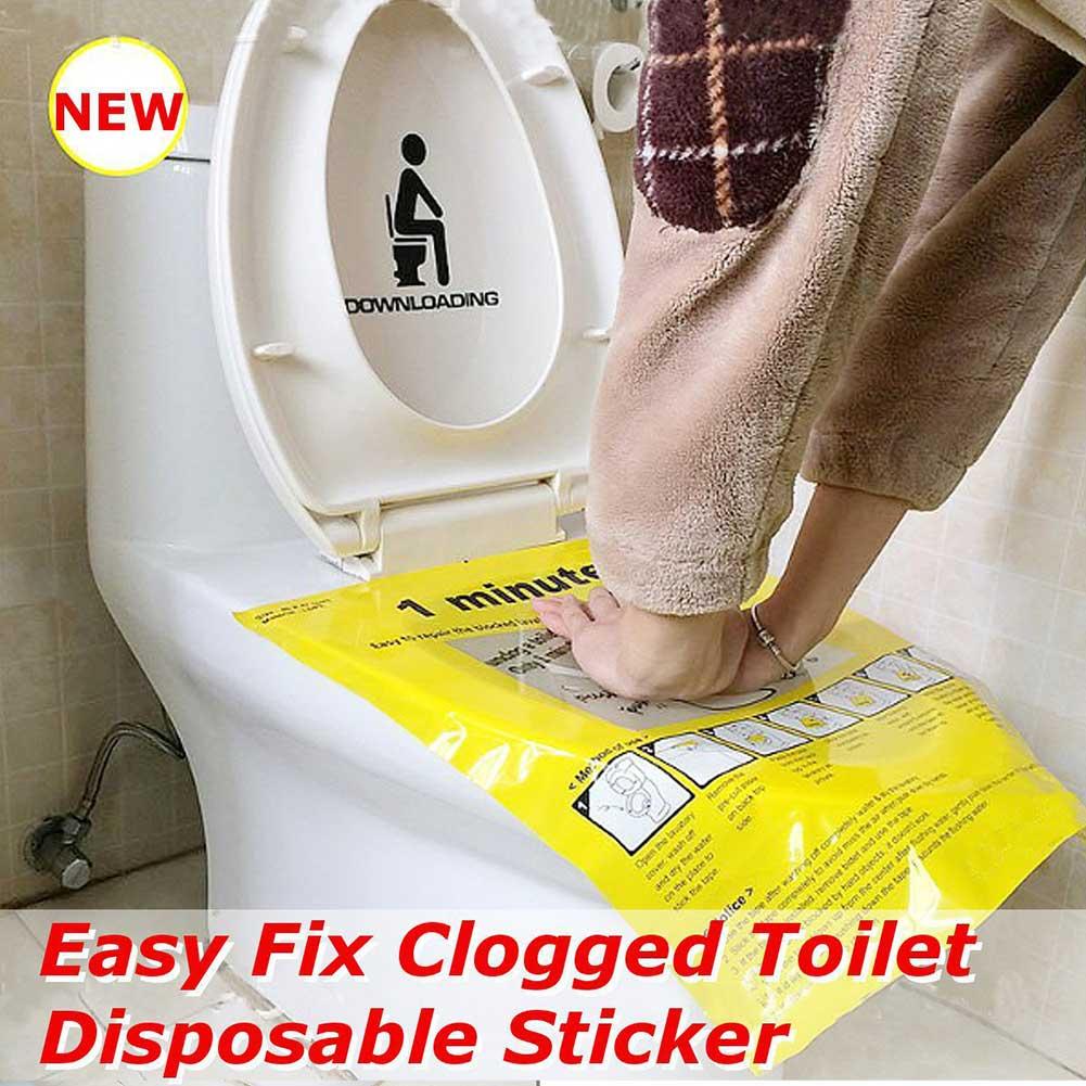40x47cm Toilet Disposable Sticker Plunger Dredge Easy Fix Clogged Film PLDI889