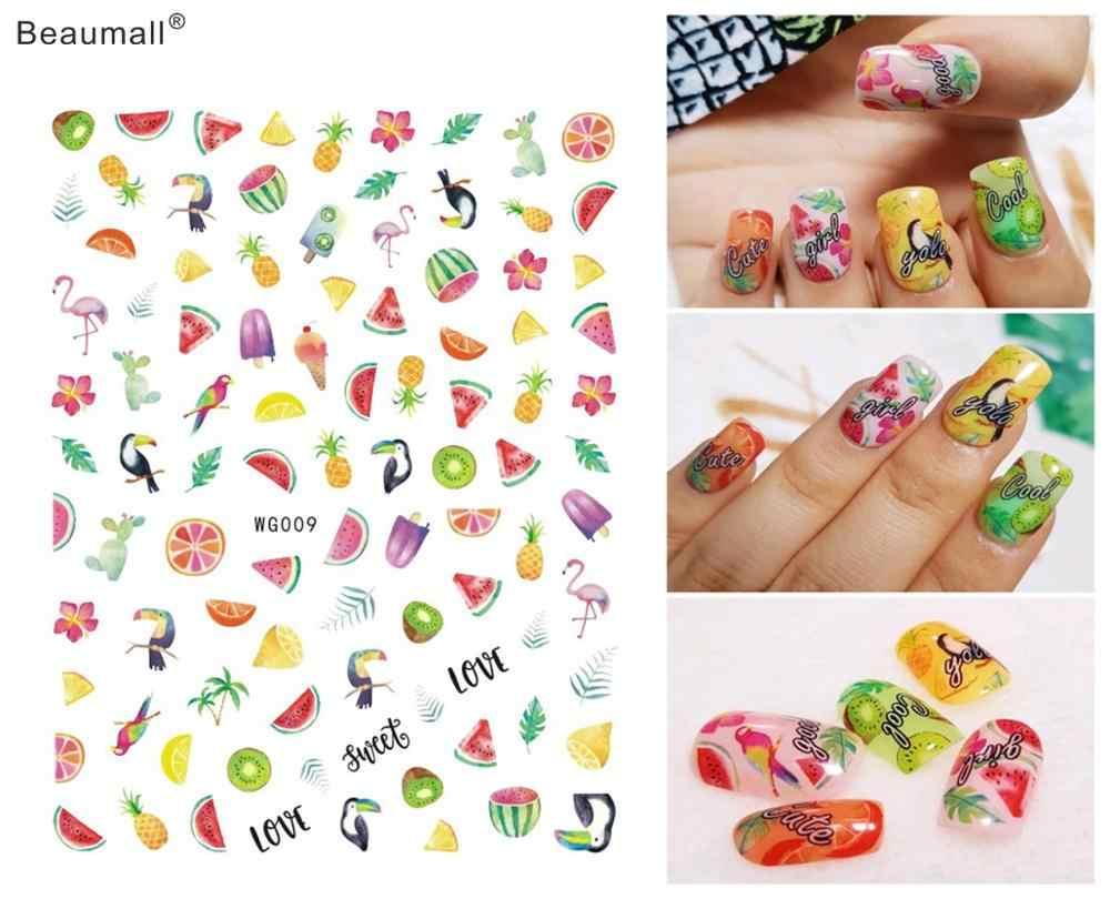 果物タイプ爪アートマニキュアバックのりデカール装飾ネイルズのヒント美容