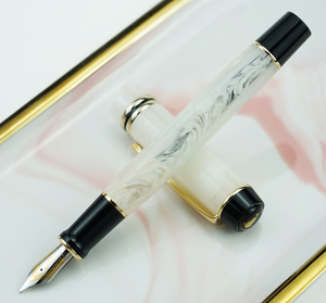 Image 4 - Kaigelu 316 Celluloid Brunnen Stift, iridium EF/F/M Nib Schöne Marmor Kristall Muster Tinte Stift Schreiben Geschenk für Büro Business