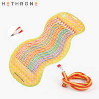Hethrone 10PCS Colorful Magic Bendy Flexible Soft Pencil with Eraser pencils Curved Toy Pen Small Gift High Striped Soft Pencil