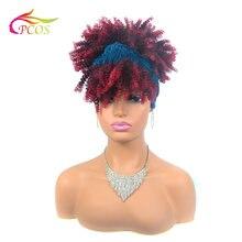 Афроамериканский тюрбан парик с запахом и связанная повязка