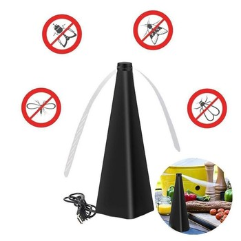 1pcs Fly Destroyer Propellor Table Food Protector Fly Destroyer Trap Mosquitoes Insect Killer Pest Reject Keep Flies Bugs Away