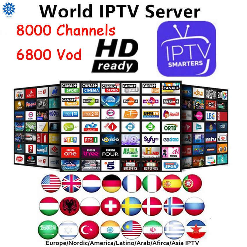 Perancis Terbaik HD IPTV M3u Berlangganan IPTV Italia Swedia Polandia VOD Mediaset Premium untuk Android Box Smart TV PC Gratis uji Enigma2