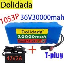 Новый аккумулятор высокой мощности 10S3P 36 в 30 Ач T-plug 500 Вт 30000 мАч для электрического велосипеда, скутера, BMS с зарядным устройством