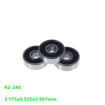 "200pcs/lot R2-2RS R2RS R2 2RS RS 1/8"" x3/8"" x5/32"" inch rubber sealed bearing Deep Groove Ball bearing Mini 3.175x9.525x3.967 mm"