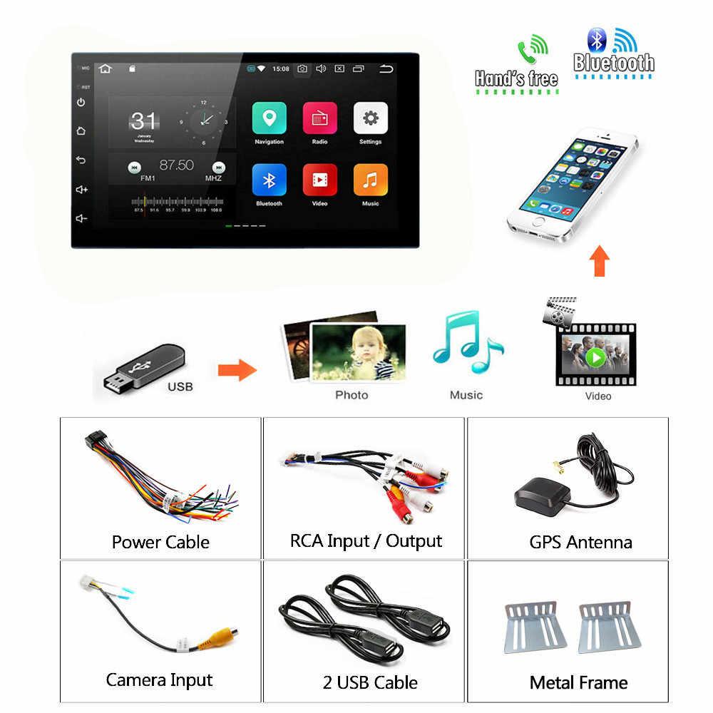 """2Din Android samochodowy odtwarzacz multimedialny nawigacja GPS 2 Din HD Autoradio wifi usb FM 2 Din 7 """"samochodowy sprzęt audio radio stereo Backup Monitor"""