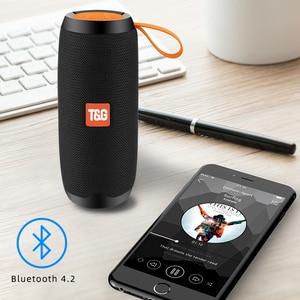 Image 2 - Bluetooth Wireless Speakers Waterproof  Stereo Column Portable Speaker with Mic FM Radio MP3 Bass Sound Box