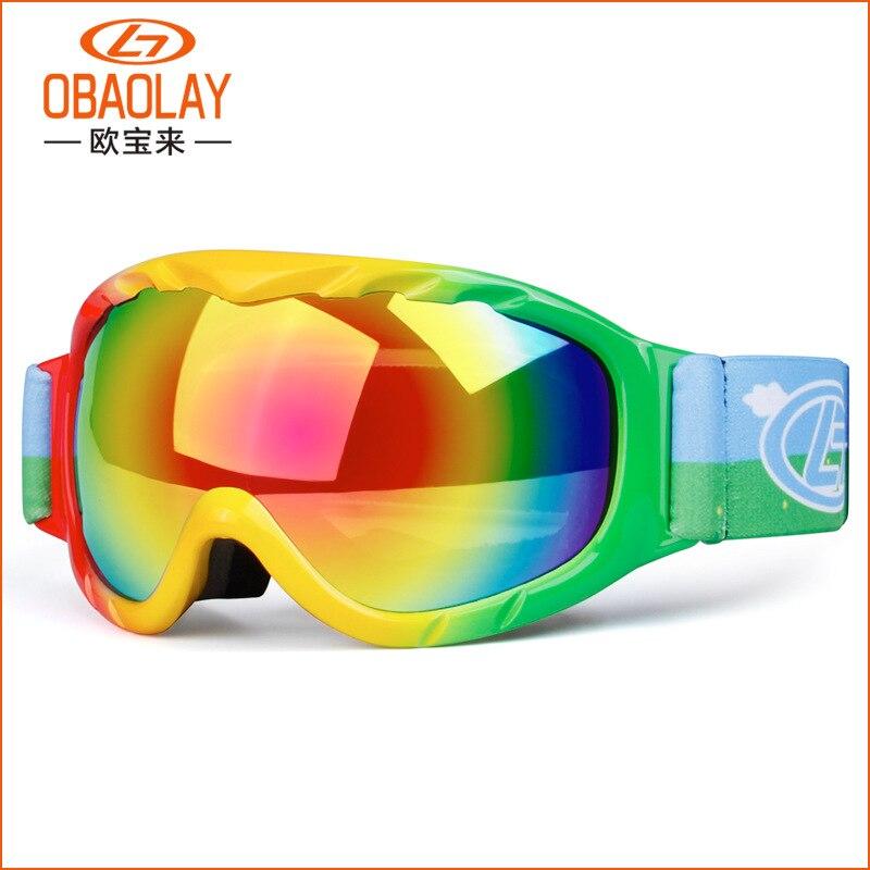 Spherical Double Layer Anti-fog Children Ski Goggles Children Snow Goggles
