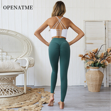 OPENATME High Waist Seamless Leggings Sport Women Fitness Yoga Pants Sexy Running Pant Pleated  Tights Womens Sports Clothes