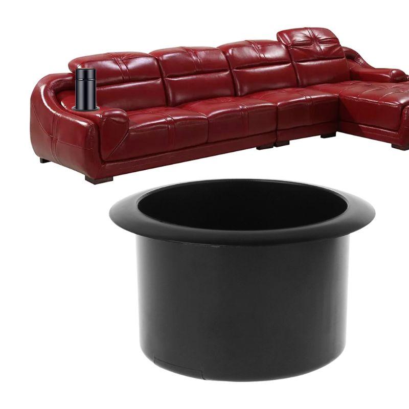 Drop Ship Plastic Black Insert Cup Holder Drink Bottle Placing Rack For Car Marine Boat RV Truck Office Sofa
