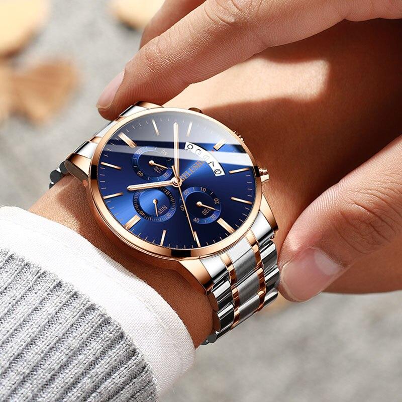 ผู้ชายนาฬิกาผู้ชาย 2019 ธุรกิจนาฬิกาควอตซ์ Chronograph แบรนด์หรูชายนาฬิกานาฬิกาข้อมือนาฬิกาผู้ชาย Relogio Masculino นาฬิกาข้อมือ-ใน นาฬิกาควอตซ์ จาก นาฬิกาข้อมือ บน AliExpress - 11.11_สิบเอ็ด สิบเอ็ดวันคนโสด 1