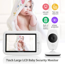 цена на Wireless Vdeo Baby Monitor 7-inch Color LCD 2-Way Audio Talk Night Vision Surveillance Security Camera Babysistter Pet Elderly