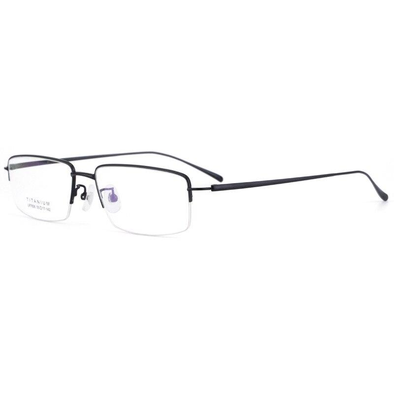 High Quality Eyeglasses Fixing Device Men's Half-Frame All Titanium Optical Glasses Business Titanium Myopia Glasses Frame 7836