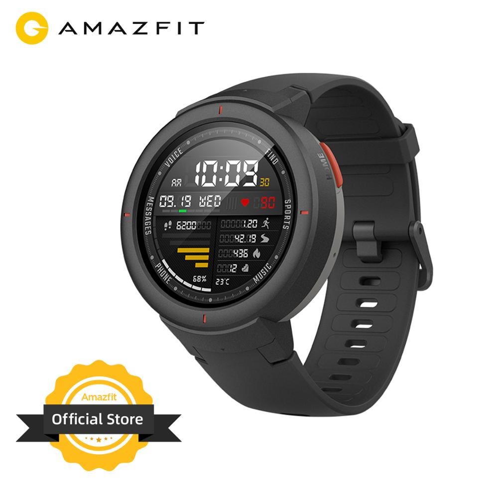 Склад в России Huami Amazfit Verge Sport Smartwatch GPS Bluetooth Music Play Call Answer Smart Message Push Heart Rate Monitor