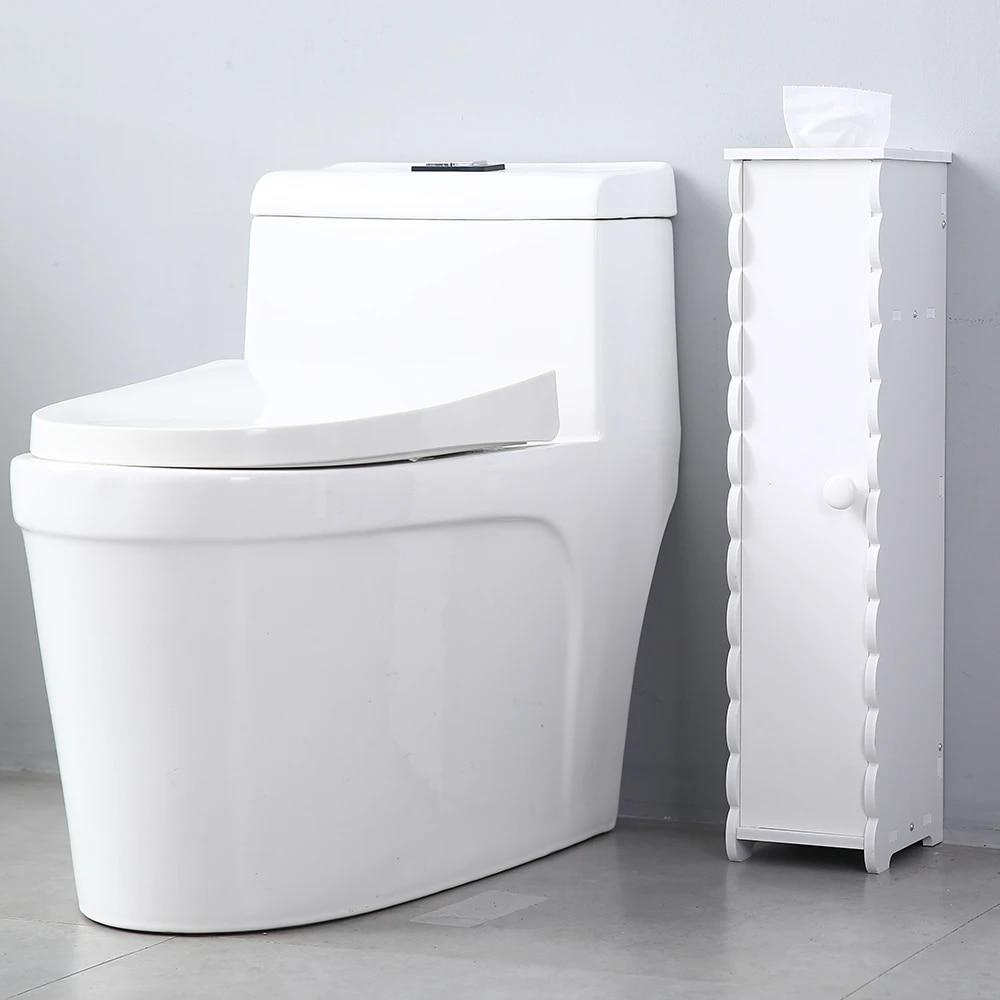 Small Bathroom Storage Corner Floor Cabinet With Doors Thin Toilet Vanity Cabinet Narrow Bath Sink Organizer Paper Towel Storage Aliexpress