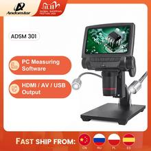 ANDONSTAR ADSM301 HDMI/USB Digital Microscope 3MP Measurement Software for Phone Repair Soldering Tool bga smt Watch