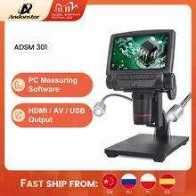 Logiciel de mesure 3MP de Microscope numérique dandonstar ADSM301 HDMI/USB pour loutil de soudure de réparation de téléphone montre bga smt
