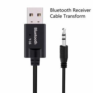 Image 2 - VIKEFON Bluetooth приемник USB bluetooth аудиоресивер 5,0 ключ 3,5 мм, AUX, разъем беспроводной автомобильный музыкальный передатчик Кабель адаптер