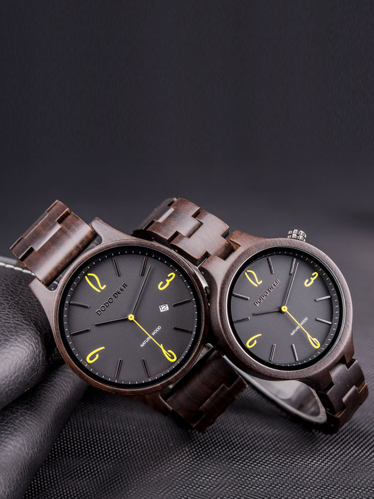 Couple Watch Gift Wood Dodo Deer Unique Men's Lovers Fashion-Brand for Amante Relgios