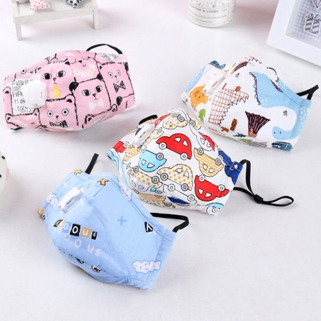 Children Mask With Breath Design Replaceable Filter Anti Dust Mouth Mask Washable Comfortable Respirator Kids Safety Face Mask 2