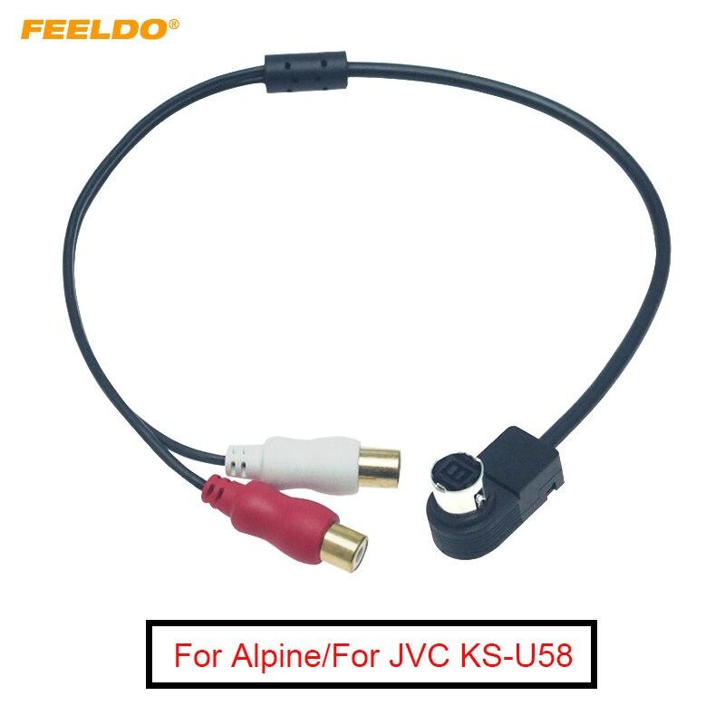 ALPINE CAR RADIO Ai-NET DIN CABLE TO RCA JACK KCA-121B