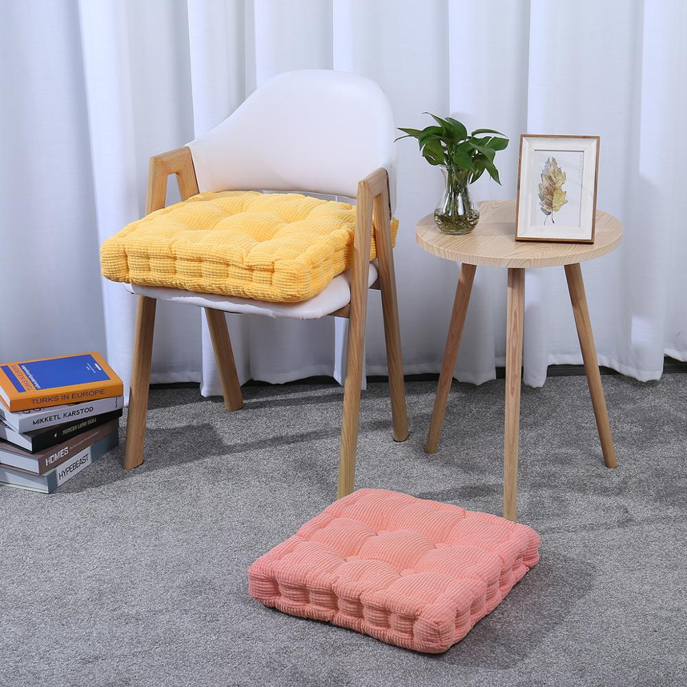 EHOMEBUY Square Chair Pad EPE Filled Chair Pad Cushion Natural For Home Office Plush Cushion Seat Chair Pillows Solid Color