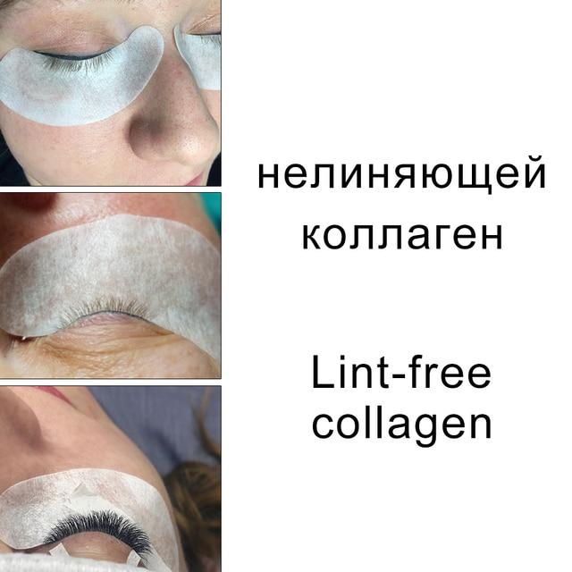 200 pairs Eyelash Extension Paper Patches Grafted Eye Lashes Stickers Eyelash Under Eye Pads Eye Tips Sticker Wraps Makeup Tools 6