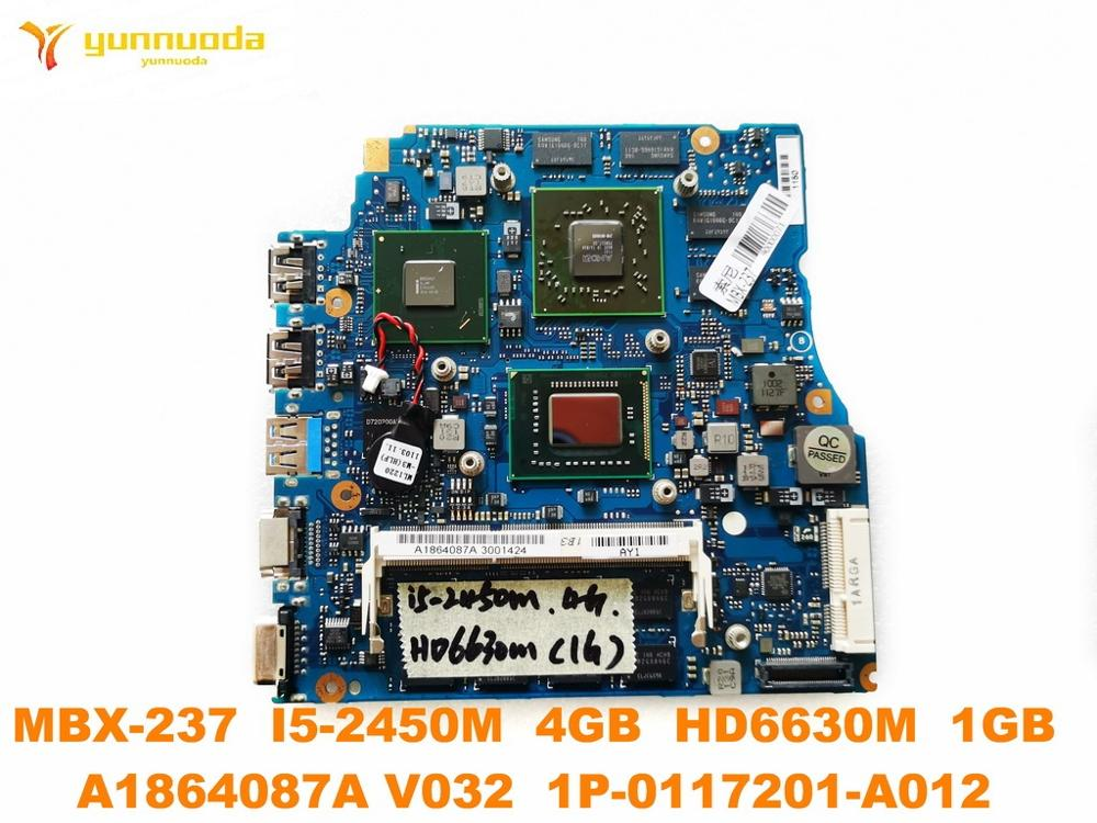 Original for SONY MBX-237 laptop motherboard MBX-237 <font><b>I5</b></font>-<font><b>2450M</b></font> 4GB HD6630M 1GB A1864087A V032 1P-0117201-A012 tested good image