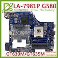 Материнская плата KEFU LA-7981P для Lenovo G580  материнская плата для ноутбука QIWG5_G6_G9  LA-7981P REV: 1 0 PGA989 HM76 DDR3 GT630M/GT635M  тест
