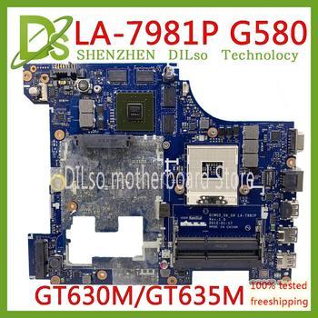 KEFU LA-7981P płyta główna dla Lenovo G580 laptopa płyty głównej płyta główna w QIWG5_G6_G9 LA-7981P REV: 1.0 PGA989 HM76 DDR3 GT630M/GT635M Test