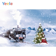 Winter Snow Train Polar Express Christmas Backdrop Sledge Snowflake Party Photo Background Birthday Banner Decoration