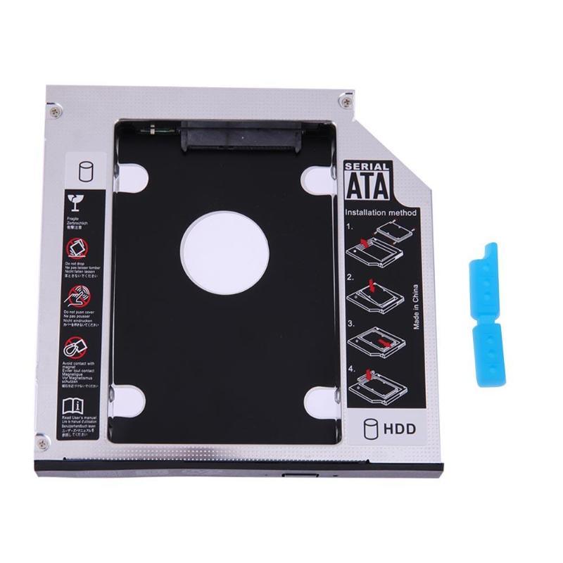 Universal Hard Disk Drive Bay 2.5 2nd 12.7mm/9.5mm Ssd Hd SATA Hard Disk Drive HDD Caddy Adapter Bay For Cd Dvd Rom Optical Bay