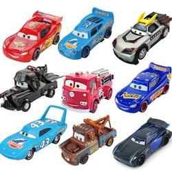 Disney pixar carros 3 relâmpago mcqueen jackson tempestade mater 1:55 diecast metal liga modelo carro brinquedo presente de natal crianças meninos
