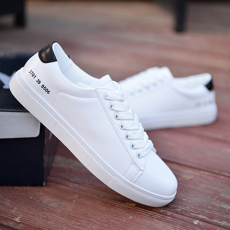 2020 New Breathable Non-slip Wear-resistant Board Shoes Outdoor Fashion Trend New Leather Shoes Casual Shoes White Shoes Men