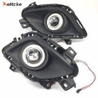 Car Styling LED Daytime Running Lights For Mazda 6 GJ 2012 2015 M6 SportBreak Angel Eyes DRL Fog Lamp H11 55W Halogen